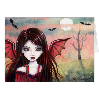 Halloween Vampire Card by Molly Harrison