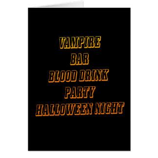 halloween vampire  greeting gard card