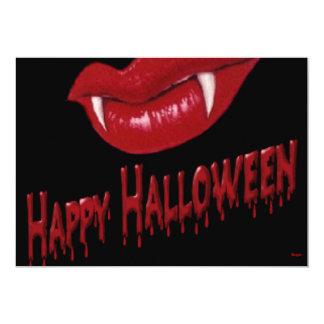 Halloween- Vampire Teeth with Happy Halloween Card