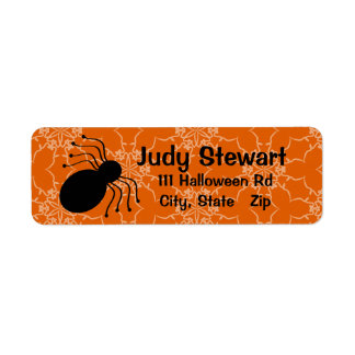 Halloween Victorian Lace Orange Address Labels