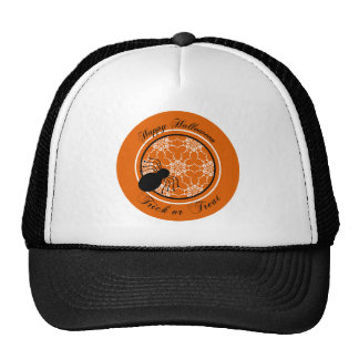 Halloween Victorian Lace Orange Trucker Hat