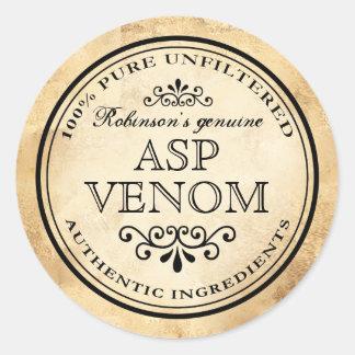 Halloween vintage apothecary asp venom label