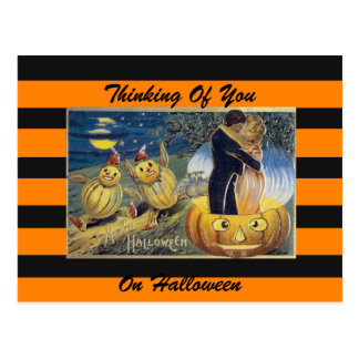 Halloween vintage art postcard