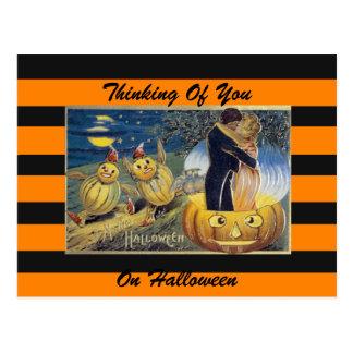 Halloween vintage art postcard