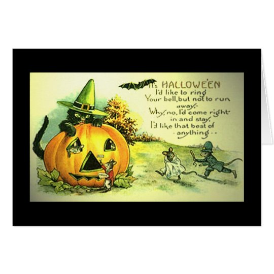 "Halloween Vintage card ""Funny mice cute"""
