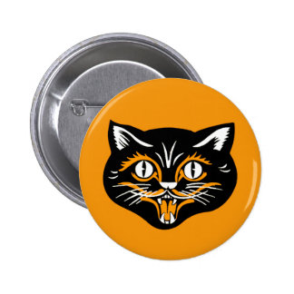 Halloween Vintage Cat Face Pins
