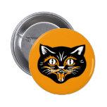 Halloween Vintage Cat Face Pins