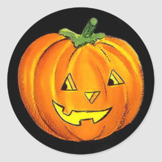 Halloween Vintage Pumpkin Sticker