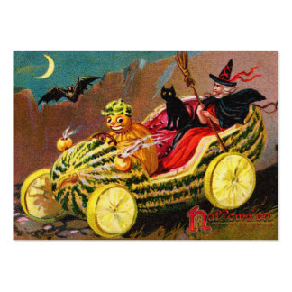 Halloween Watermelon Coach Large Business Cards (Pack Of 100)