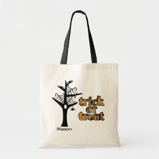 Halloween Web Tree Personalized Tote Bag