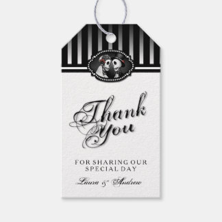 Halloween Wedding Black White Thank You Tags Pack Of Gift Tags