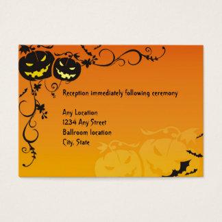 Halloween Wedding Reception Cards