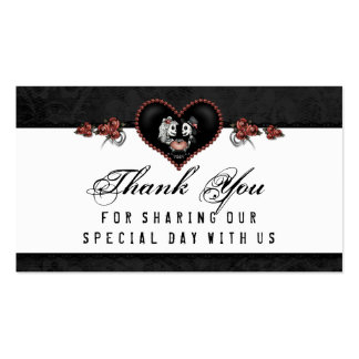 Halloween Wedding Thank You Skeleton Heart Business Card