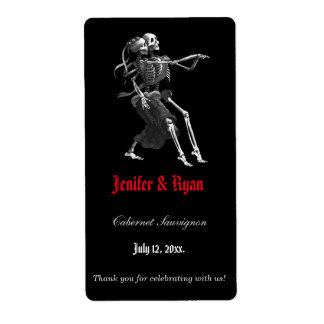 Halloween wedding wine label shipping label