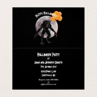 Halloween Werewolf Invitation