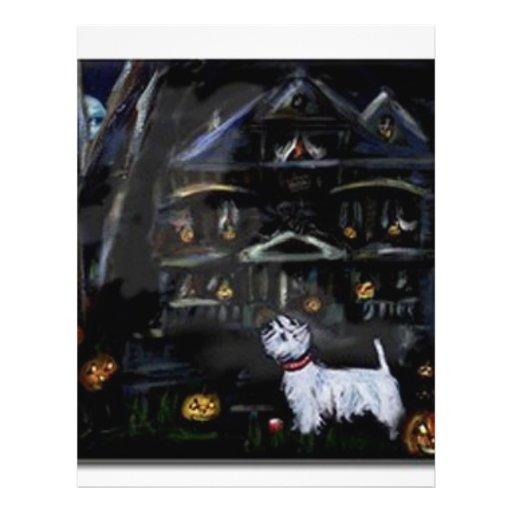 Halloween Westie Haunted house Flyer