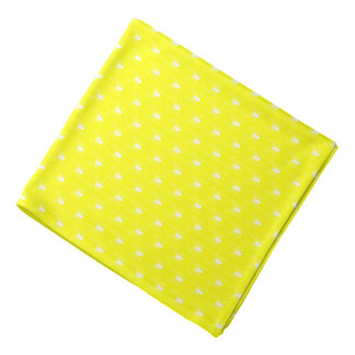 Halloween White Spiders on Yellow Bandana