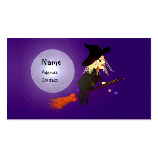 Halloween Wireless Witch - Business Size Pack Of Standard Business Cards