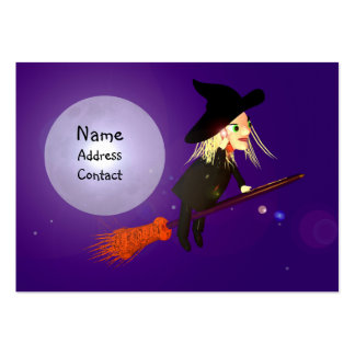 Halloween Wireless Witch - Chubby Size Large Business Card