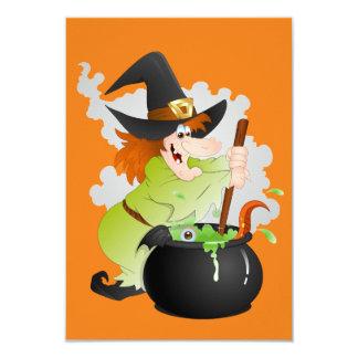"Halloween Witch 3.5"" X 5"" Invitation Card"