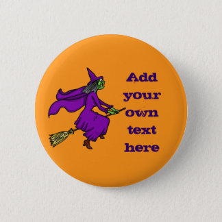 Halloween Witch Add Your Own Text 2 Inch Round Button