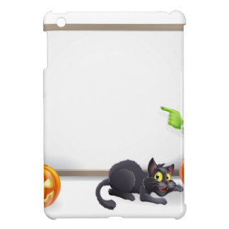 Halloween Witch and Frankenstein Banner iPad Mini Covers