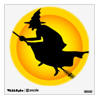 Halloween Witch and Moon Wall Decal