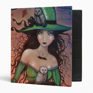 Halloween Witch and Owls Binder