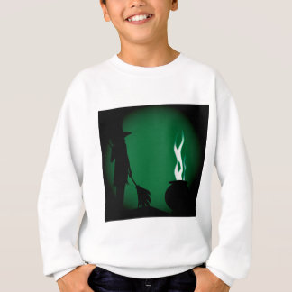 Halloween Witch Background Sweatshirt