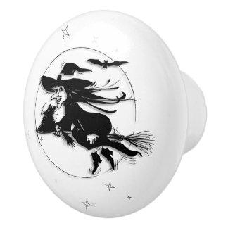 Halloween Witch Ceramic Knob