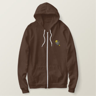 Halloween Witch Embroidered Hoodie
