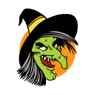 Halloween Cartoon Witch Face.Green Ugly Cartoon Witch Gifts On Zazzle Ca