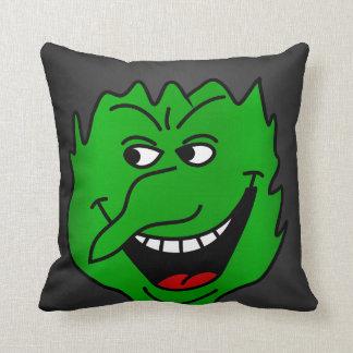 Halloween Witch Face Throw Pillow