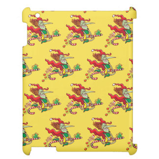 Halloween witch flying on a Christmas candy cane Cover For The iPad 2 3 4