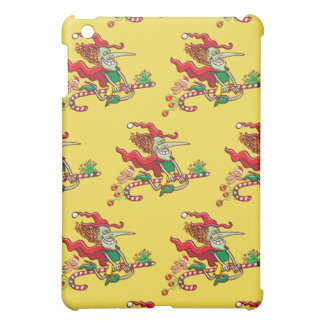 Halloween witch flying on a Christmas candy cane iPad Mini Covers