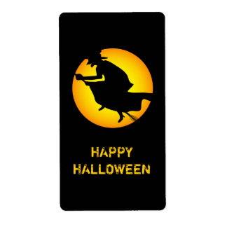 Halloween Witch Happy Halloween Label Shipping Label