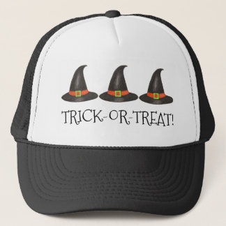 Halloween Witch Hat Trick-or-Treat Green Black