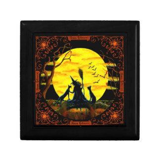 Halloween witch jewellery box keepsake boxes