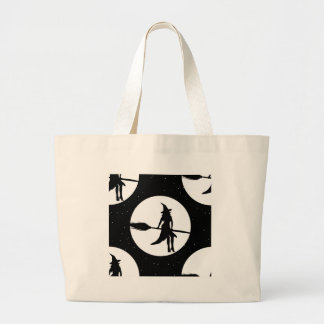 halloween witch large tote bag