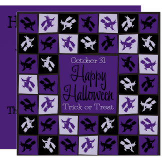 Halloween Witch mosaic Card