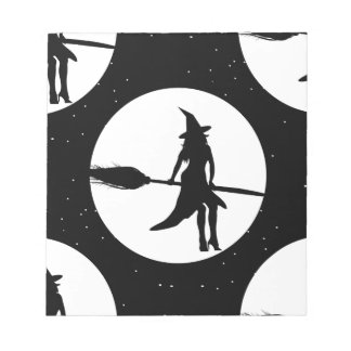 halloween witch notepad