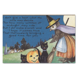 Halloween witch owl black cats party tissue tissue paper