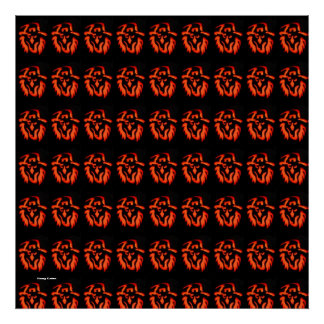 Halloween Witch Pattern Posters