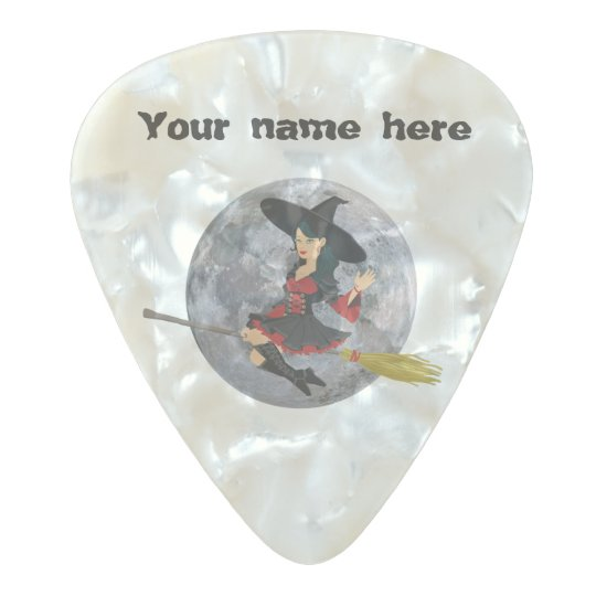 Halloween Witch Pearl Celluloid Guitar Pick