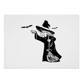 Halloween Witch Posters