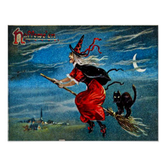 Hallowe'en Witch Poster