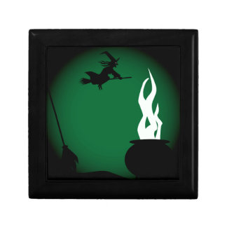 Halloween Witch Poster Background Gift Box