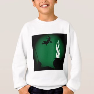 Halloween Witch Poster Background Sweatshirt