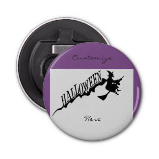 Halloween Witch Riding Broom Thunder_Cove Bottle Opener