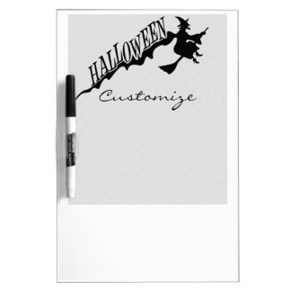 Halloween Witch Riding Broom Thunder_Cove Dry Erase Board